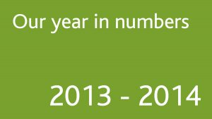 Our year in numbers 2013-2014